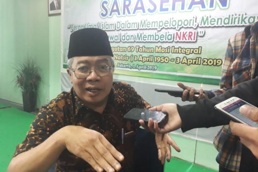 Mantan Sekretaris Mohammad Natsir (Pendiri Masyumi), Lukman Hakiem di Kantor MUI Pusat, Senin (1/3).
