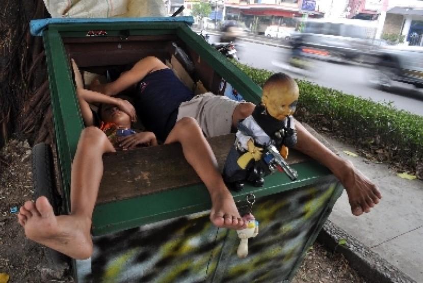 Manusia gerobak (ilustrasi)