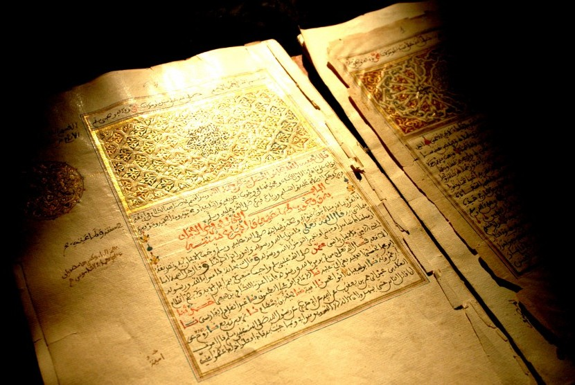 Manuskrip Timbuktu, warisan peradaban Islam yang terancam punah (ilustrasi).