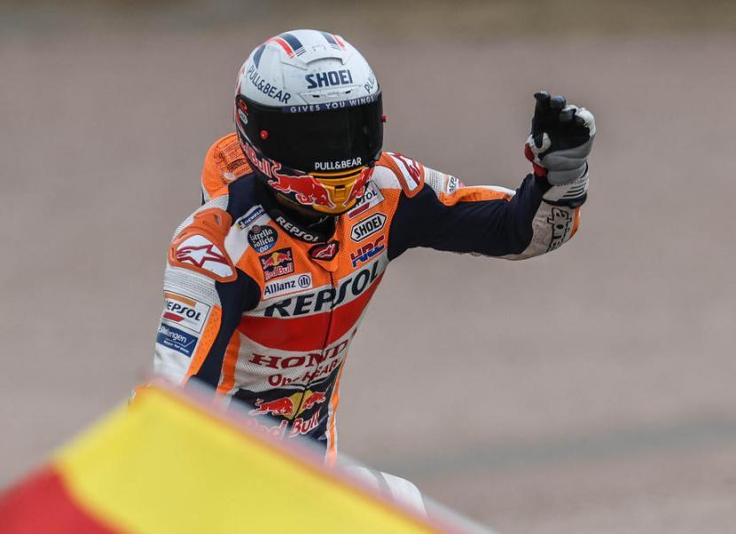 Marc Marquez saat memenangi GP Jerman, Ahad (20/6)