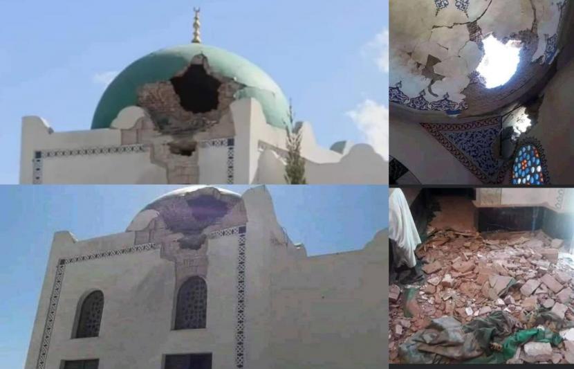 Masjid Al Nejashi yang rusak akibat konflik di Tigray.