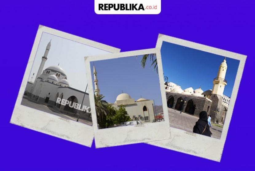 Tiga Bangunan Awal Kebangkitan Arsitektur Islam. Masjid di Madinah yang pernah digunakan Rasulullah untuk shalat.