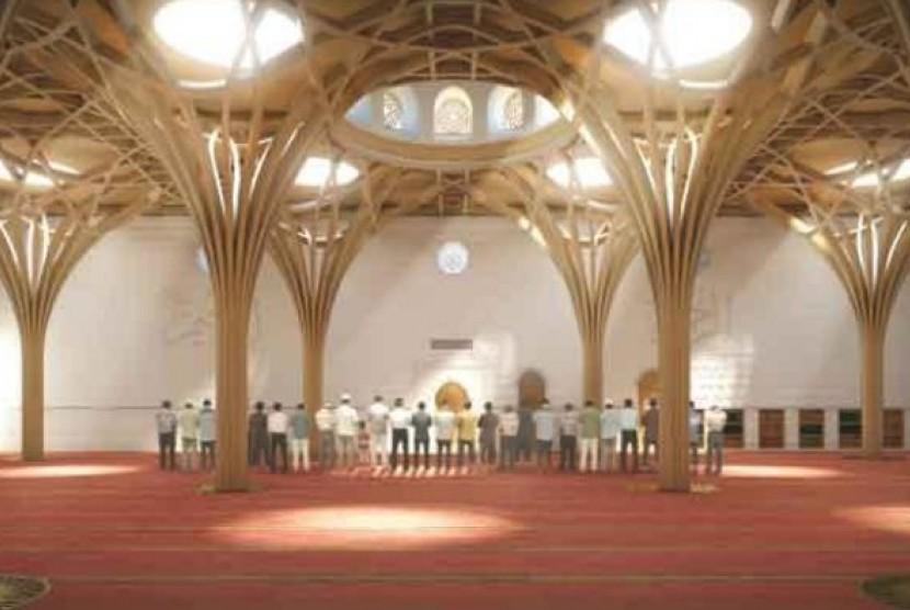 Masjid Hijau di Cambridge