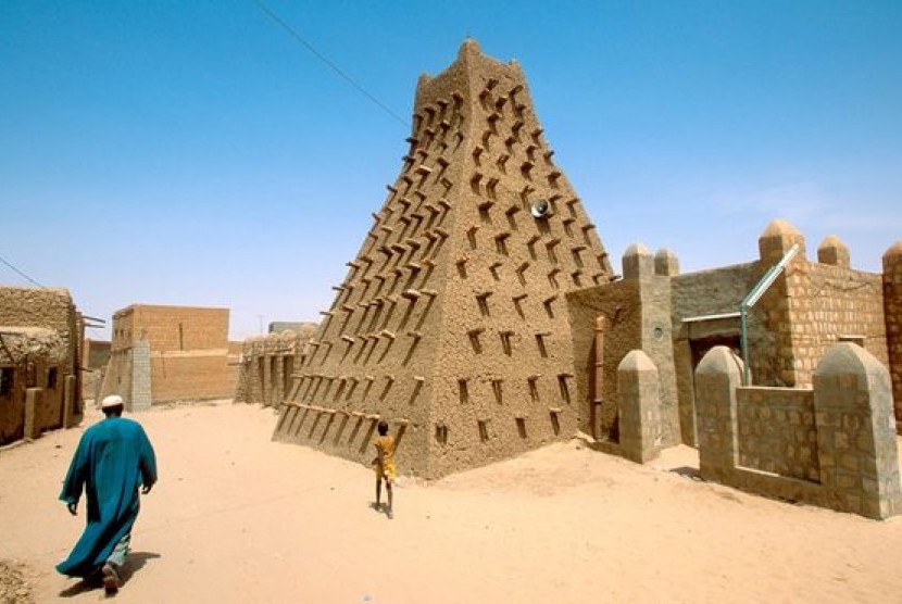 Masjid Sankore di Timbuktu, Mali.