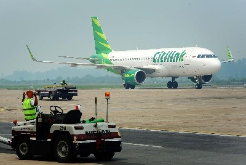 Maskapai penerbangan Citilink (ilustrasi).