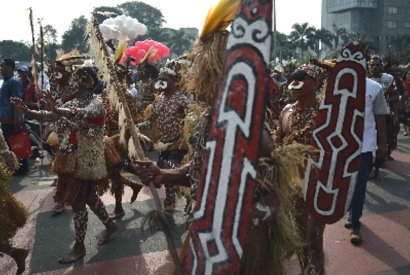 Masyarakat tradisional Papua.