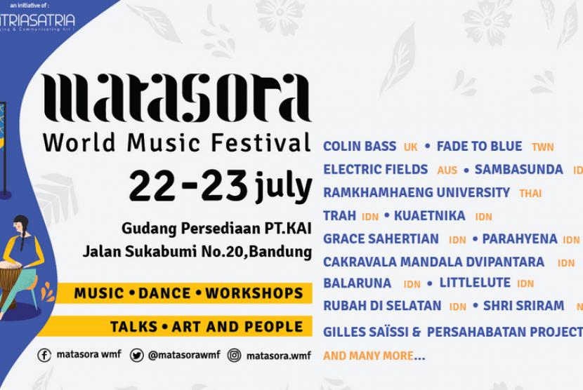 Matasora World Music Festival akan digelar di Bandung