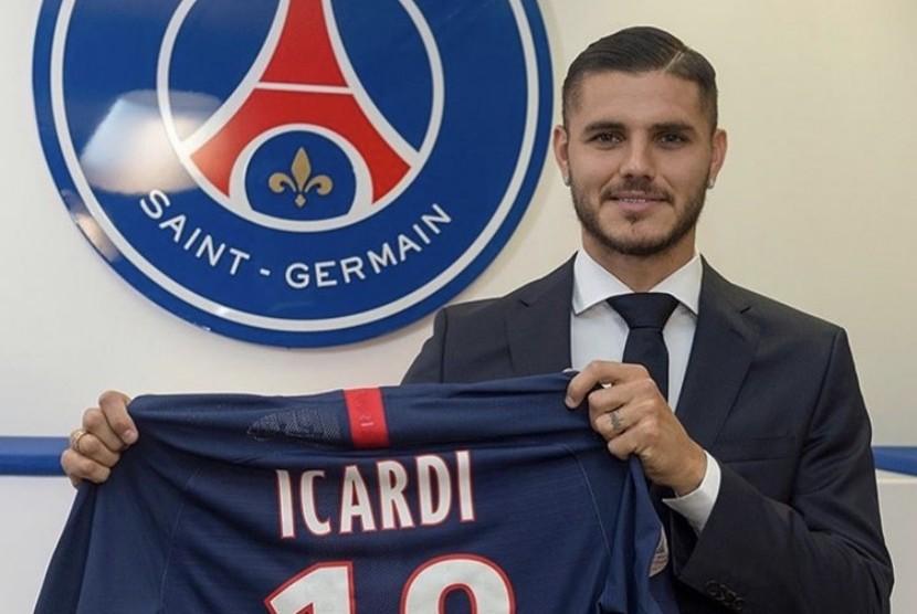 Mauro Icardi berseragam PSG.