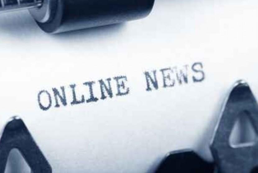 Media Online. Ilustrasi.
