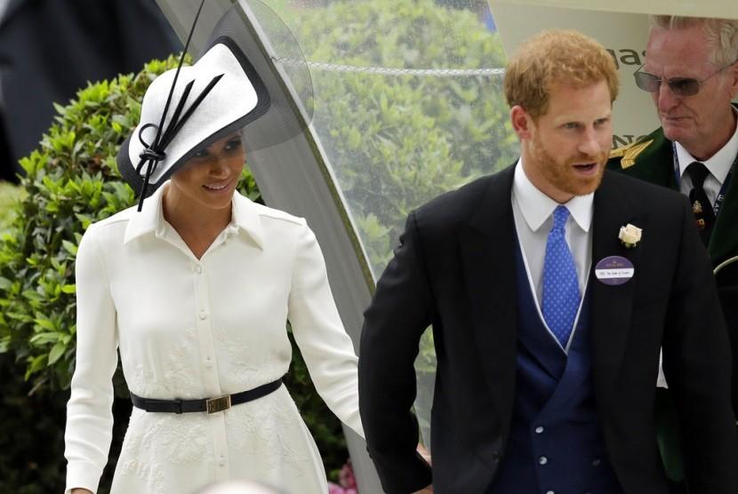Meghan Markle dan Pangeran Harry di acara Royal Ascot.