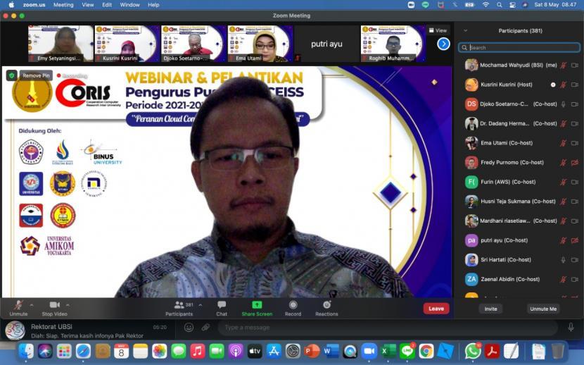 Melalui webinar, Pengurus Pusat IndoCEISS resmi dikukuhkan untuk periode 2021-2025. Kegiatan ini digelar secara daring, pada Sabtu (8/5) kemarin, pukul 08.00 WIB dengan tema