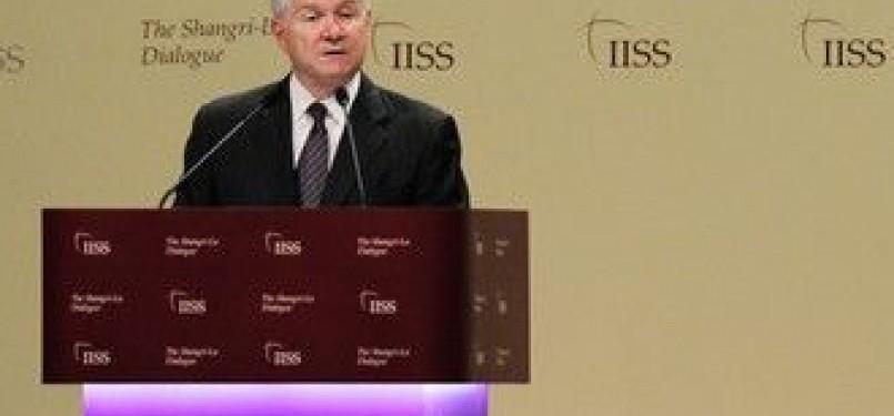 Menhan AS Robert Gates dalam Konferensi International Institute for Strategic Studies (IISS) di Singapura