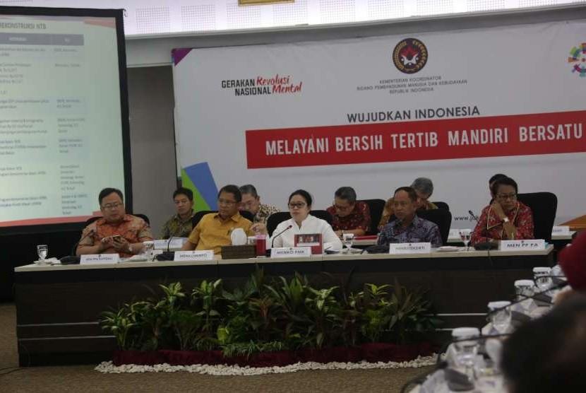 Menko PMK Puan Maharani memimpin Rapat Koordinasi Tingkat Menteri (RTM) Rehabilitasi dan Rekonstruksi Pasca Bencana Gempa Bumi di NTB.