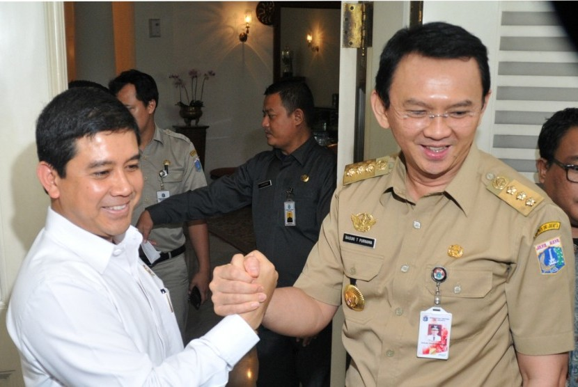 Menpan RB Yuddy Chrisnandi salam komando bersama Gubernur Ahok.
