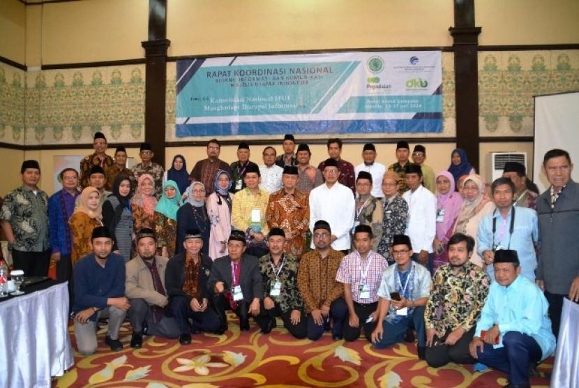 Menteri Agama Lukman Hakim Saifuddin saat penutupan Rakornas Infokom MUI di Jakarta, Rabu (17/7).