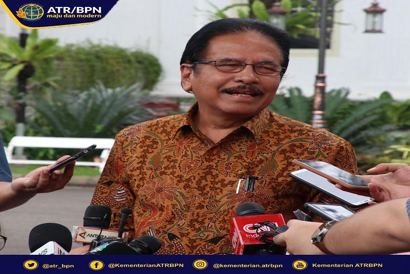 Menteri Agraria dan Tata Ruang/Badan Pertanahan Nasional (ATR/BPN) Sofyan A Djalil