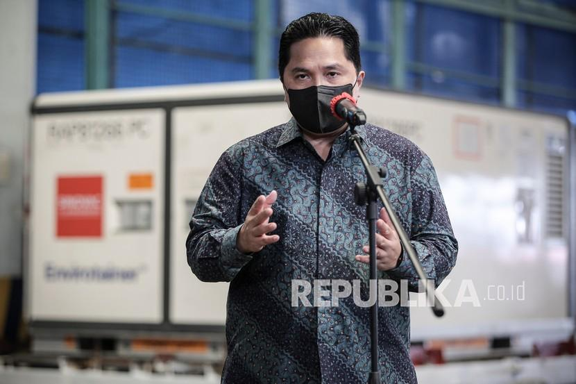 Rasa Bangga Erick dengan Penyandang Disabilitas Tasikmalaya. Menteri BUMN Erick Thohir.