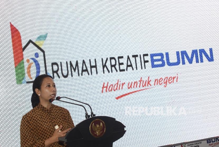 Menteri BUMN Rini M Soemarno.