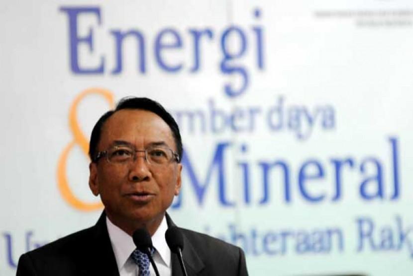 Menteri Energi dan Sumber Daya Mineral (ESDM) Jero Wacik