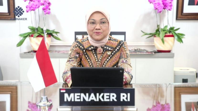 Menteri Ketenagakerjaan Republik Indonesia Ida Fauziyah.