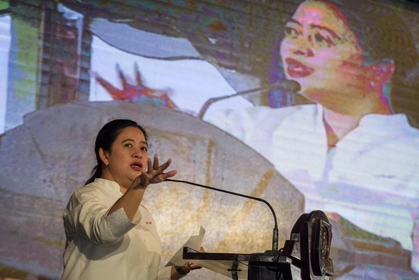 Menteri Koordinator Bidang Pembangunan Manusia dan Kebudayaan (Menko PMK), Puan Maharani.