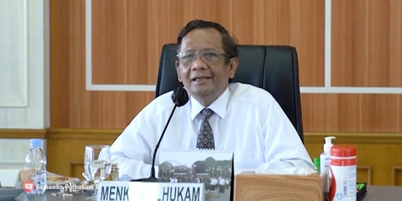 Menteri Koordinator Bidang Politik, Hukum dan Keamanan (Menko Polhukam), Mahfud MD