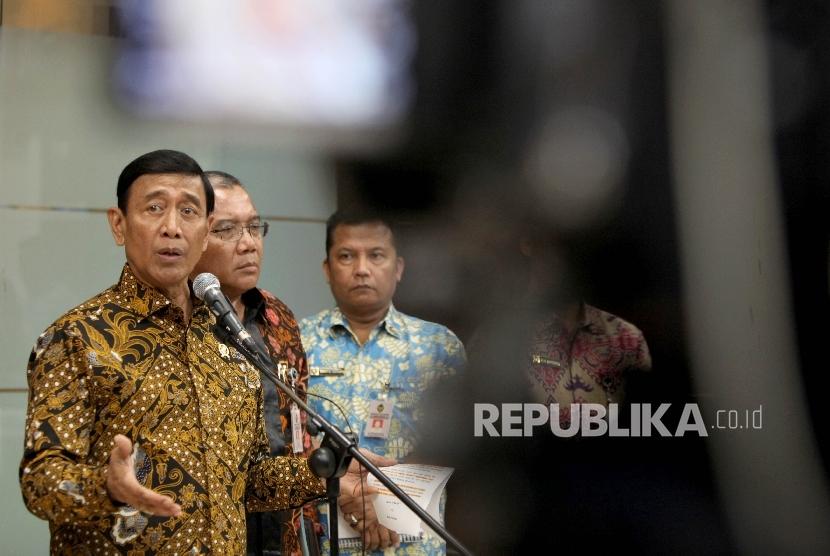 Menteri Koordinator bidang Politik, Hukum dan Keamanan Wiranto (ilustrasi)
