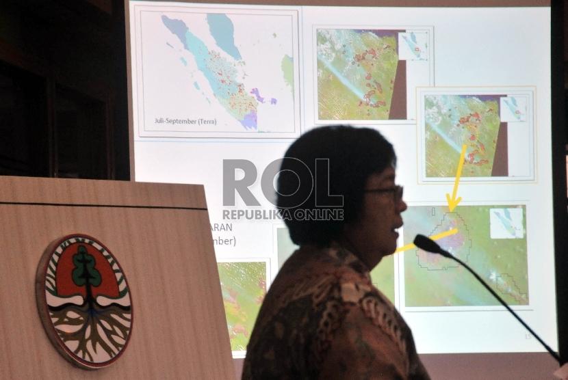 Menteri Lingkungan Hidup dan Kehutanan (LHK) Siti Nurbaya. (Republika/Rakhmawaty La'lang)