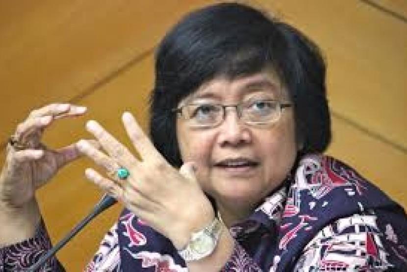Menteri Lingkungan Hidup dan Kehutanan Siti Nurbaya.