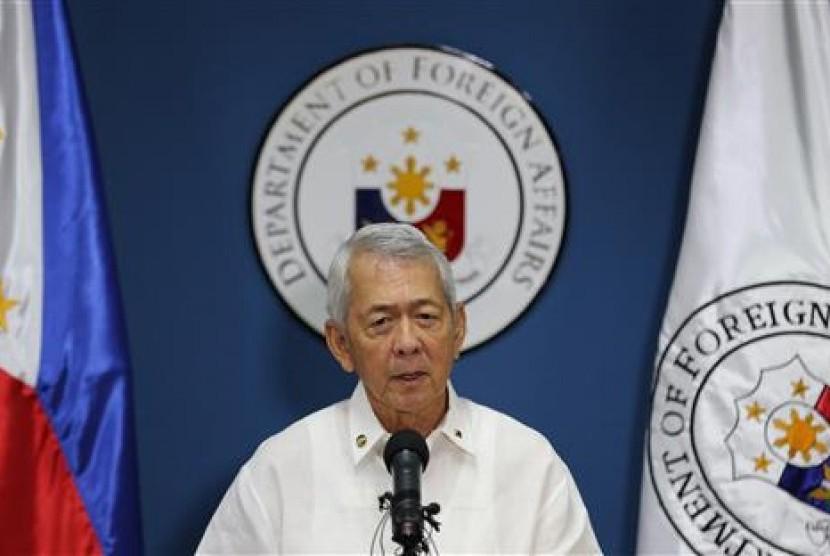 Menteri Luar Negeri Filipina Perfecto Yasay.