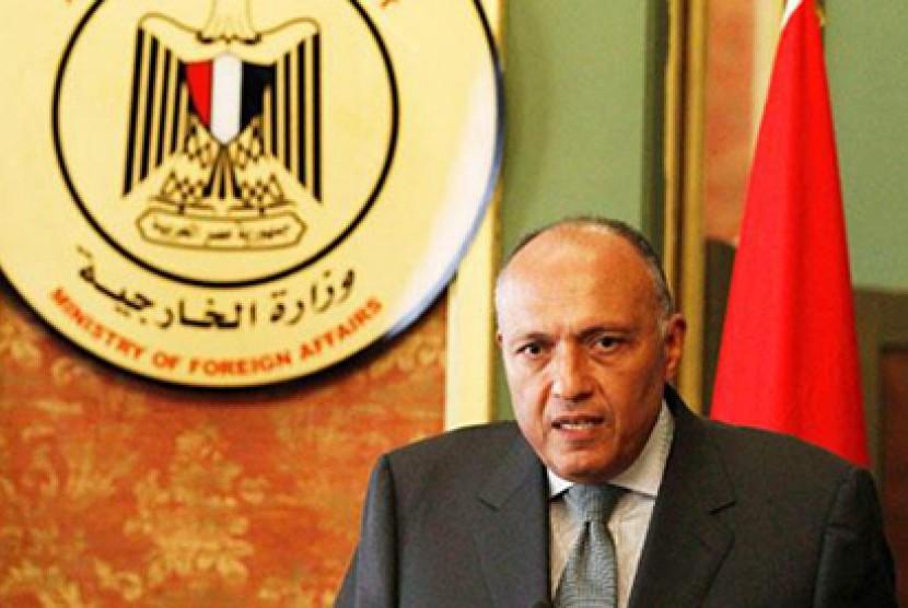 Menteri Luar Negeri Mesir Sameh Shoukry.