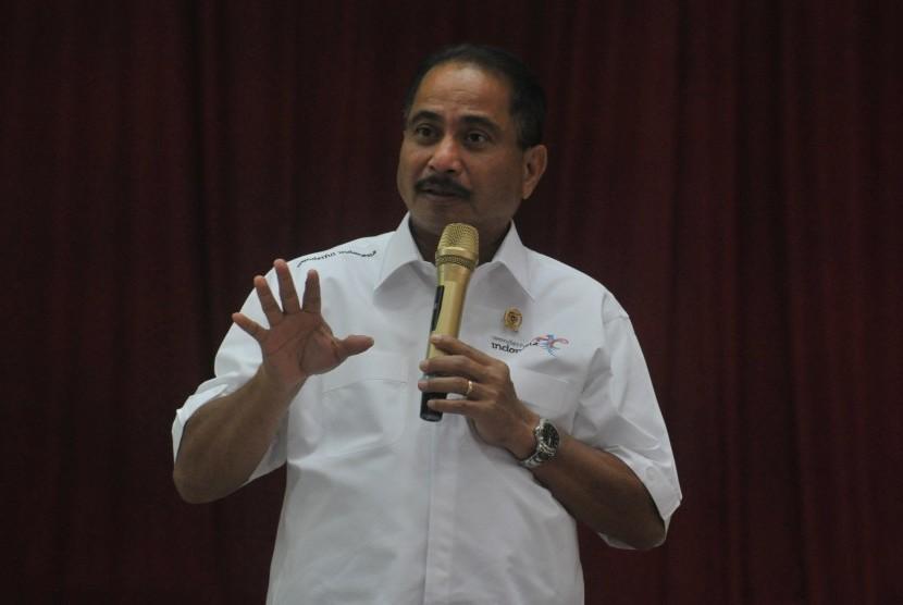 Menteri Pariwisata Arief Yahya menjadi pembicara pada diskusi publik bertema peningkatan produktivitas masyarakat berbasis pariwisata lokal di Auditoroum Graha Universitas Sriwijaya Palembang,Sumsel, Rabu (6/2/2019).