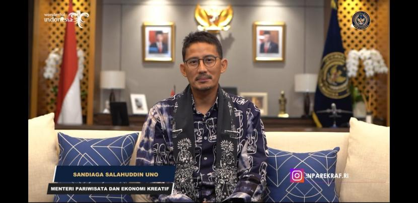Menteri Pariwisata dan Ekonomi Kreatif (Menparekraf) Sandiaga Salahudin Uno. Sandiaga meminta Kota Singkawang memiliki kegiatan berskala internasional untuk mempromosikan toleransi di sana.