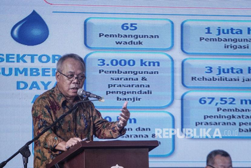 Menteri Pekerjaan Umum dan Perumahan Rakyat Basuki Hadimulyono