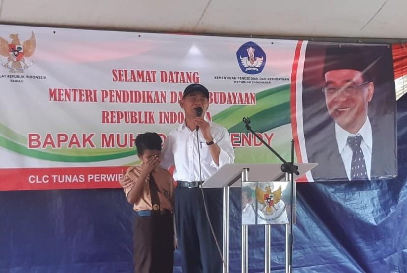 Menteri Pendidikan dan Kebudayaan, Muhadjir Effendi, melakukan kunjungan ke Pusat Kegiatan Belajar Masyarakat atau Community Learning Centre (CLC) di Tawau, Sabah, Malaysia, Kamis (24/1).