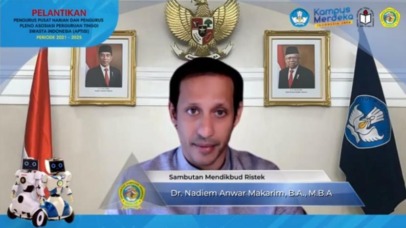 Menteri Pendidikan, Kebudayaan, Riset dan Teknologi (Kemendikbudristek) Nadiem Anwar Makarim.