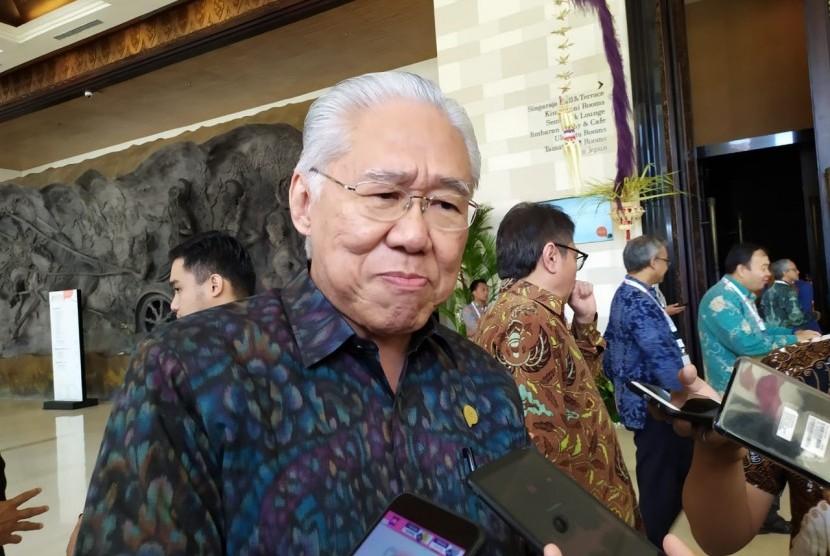 Menteri Perdagangan Enggartiasto Lukita saat diwawancarai wartawan, di Nusa Dua, Bali, Rabu (21/8).