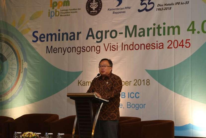 Menteri Perencanaan Pembangunan Nasional (PPN) Kepala Badan Perencanaan Pembangunan Nasional (Bappenas), Prof  Dr Ir Bambang PS Brodjonegoro