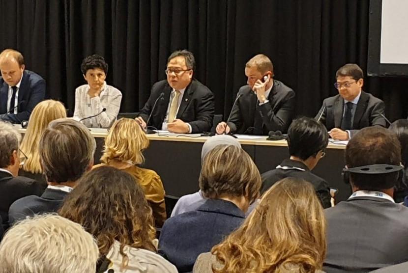 Menteri Perencanaan Pembangunan Nasional (PPN)/Kepala Bappenas, Bambang Brodjonegoro menghadiri IACC di Kopenhagen.