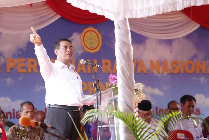 Menteri Pertanian Amran Sulaiman dalam acara Pekan Pertanian Rawa Nasional II