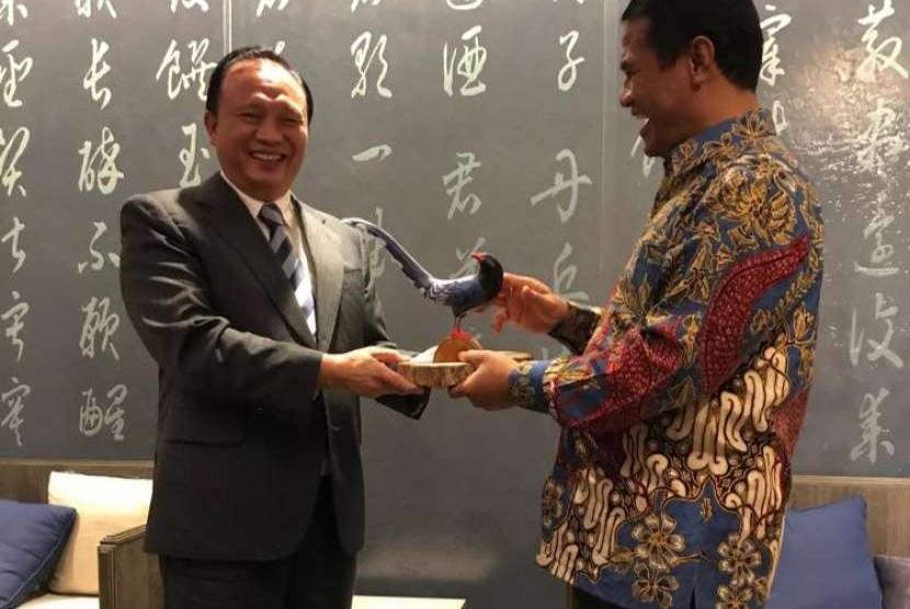 Menteri Pertanian Indonesia, Amran Sulaiman bertemu Menteri Pertanian Taiwan, Mr. Tsung-Hsien Lin, Selasa, (9/10)