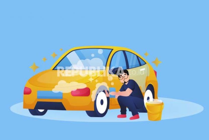 Cara mudah merawat mobil dari rumah (ilustrasi).