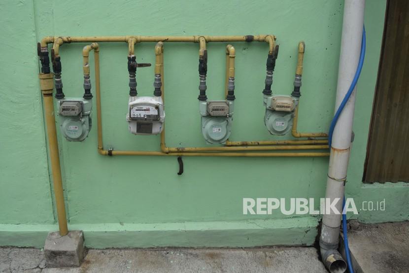 Meteran jaringan gas rumah tangga PGN
