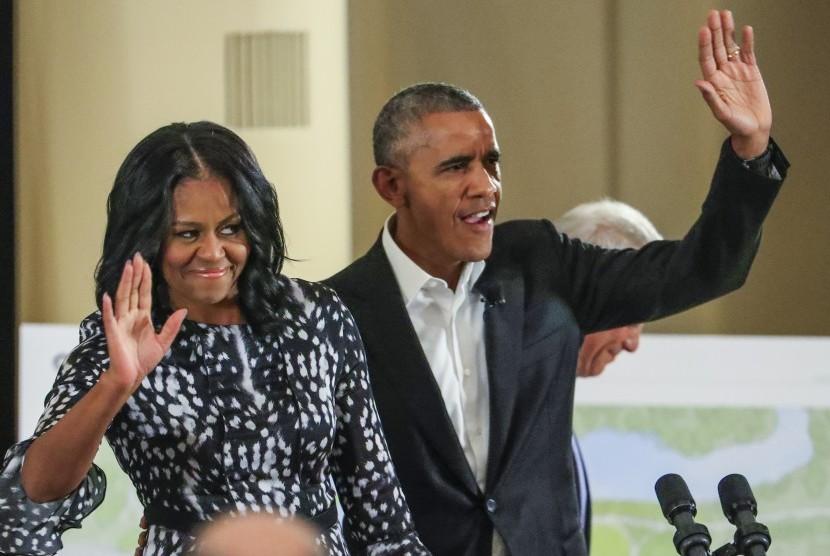 Michelle Obama dan Barack Obama.