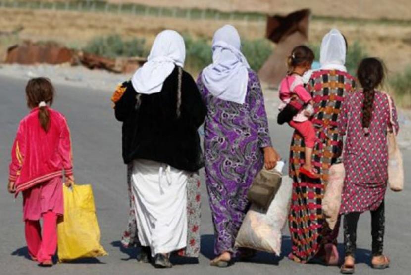Militan ISIS di Irak dan Suriah memperbudak perempuan dari kelompok agama minoritas Yazidi di Utara Irak.