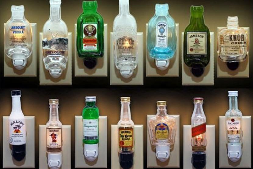 Minuman beralkohol (ilustrasi).