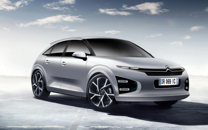 Mobil konsep Citroen e-C4.