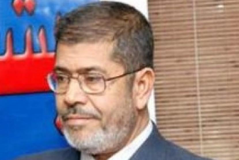 Muhammad Mursi, ketua Partai Kebebasan dan Keadilan bentukan Ikhwanul Muslimin.