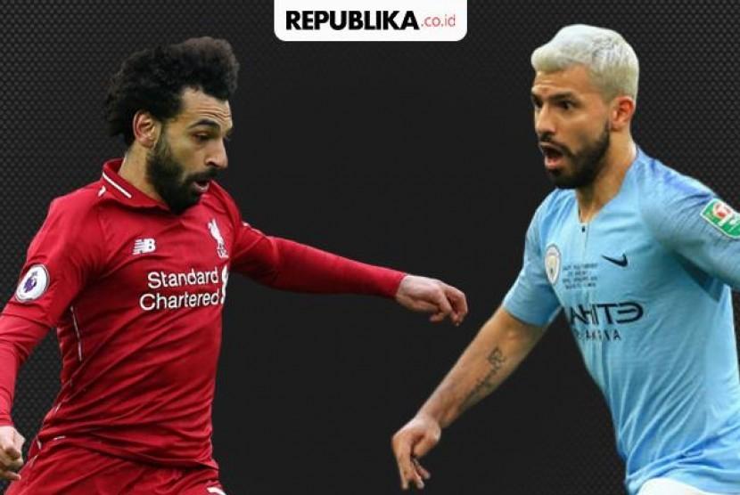 Mohamed Salah (Liverpool) Vs Sergio Aguero (Manchester City)