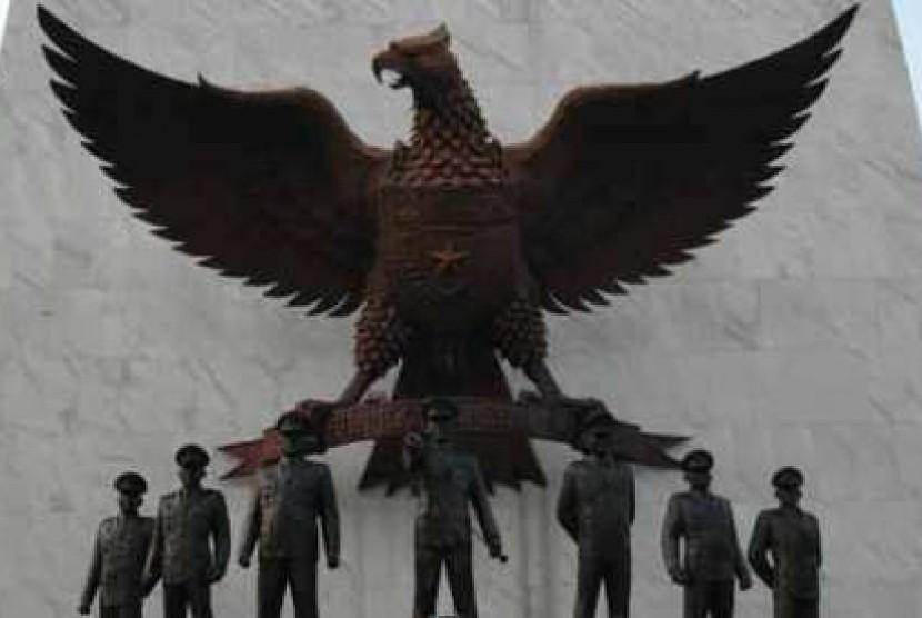 Monumen Pancasila Sakti simbol peringatan terhadap pahlawan yang gugur dalam gerakan 30 September 1965